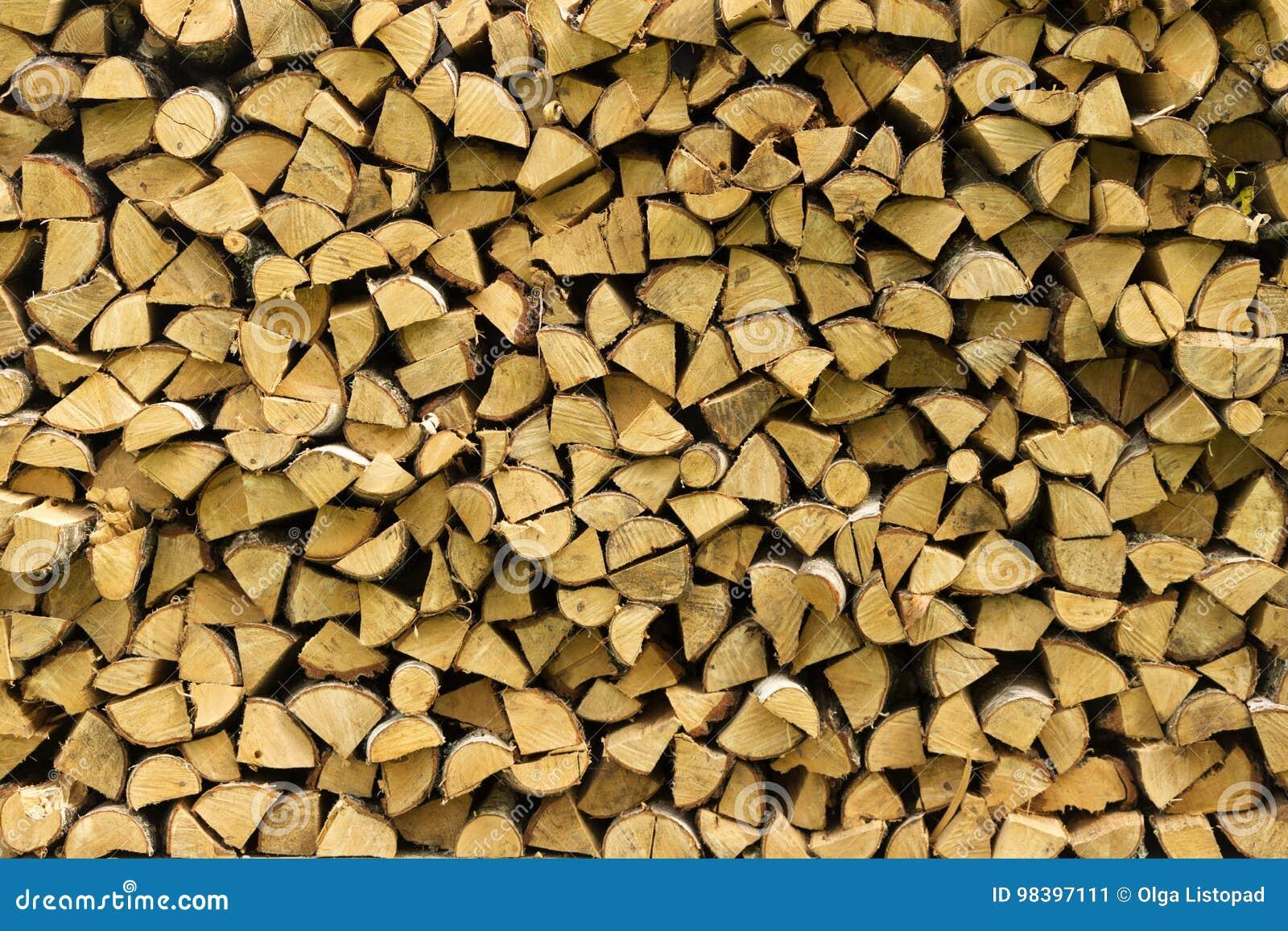 Rondins en bois, faisceaux, bois de chauffage, cadre Beaucoup de bois Fond en bois de rondin en bois essence Moisson du bois de c