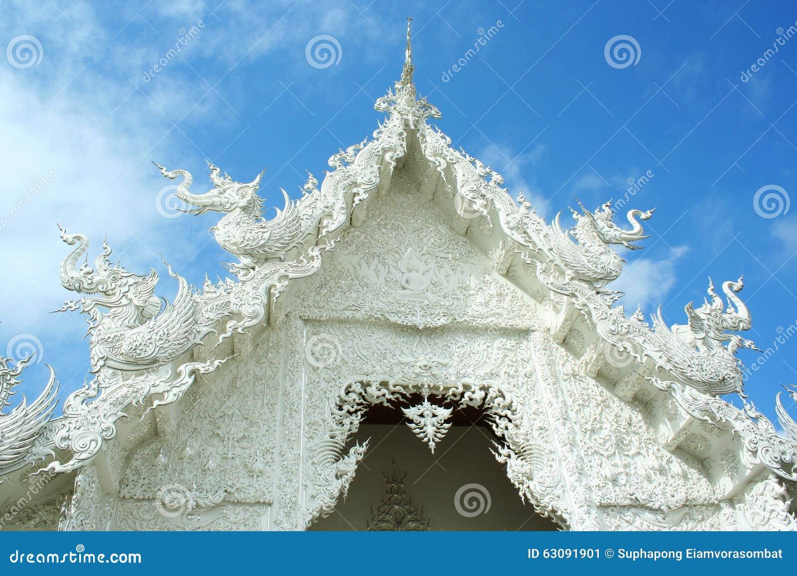 Download Rongkhun de wat image stock. Image du d0, asie, thailand - 63091901