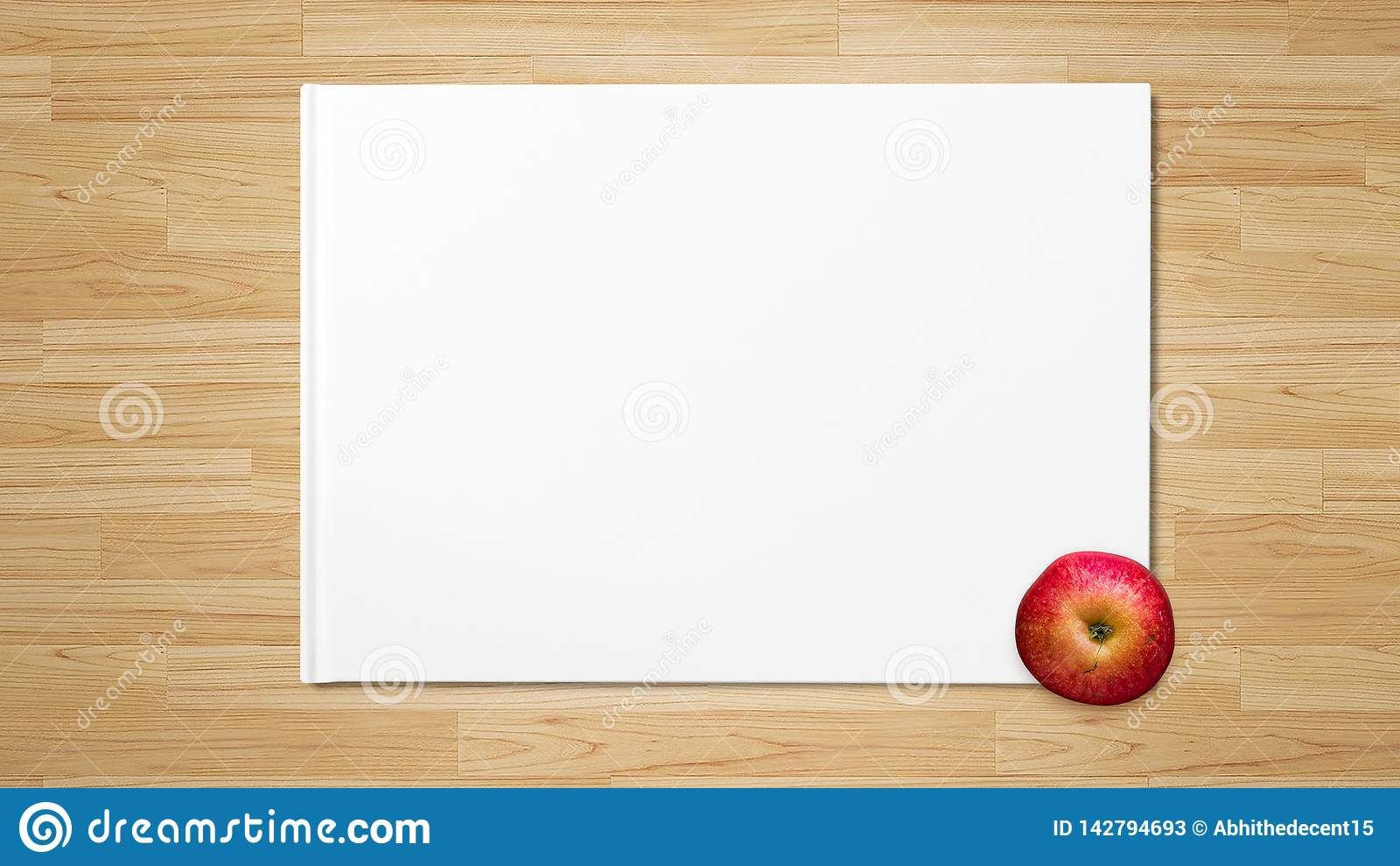 Rood Apple op Witboek