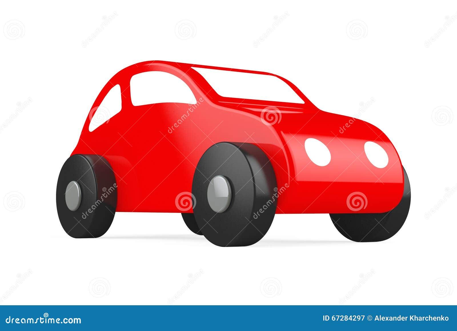 Rood Beeldverhaal Toy Car