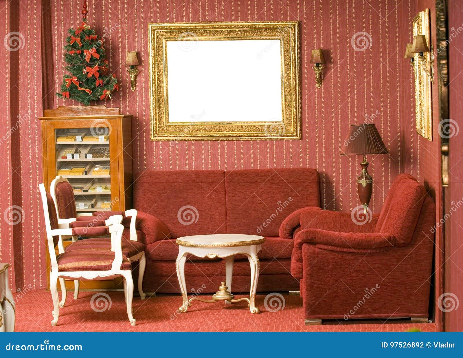 Rood binnenlands ontwerp