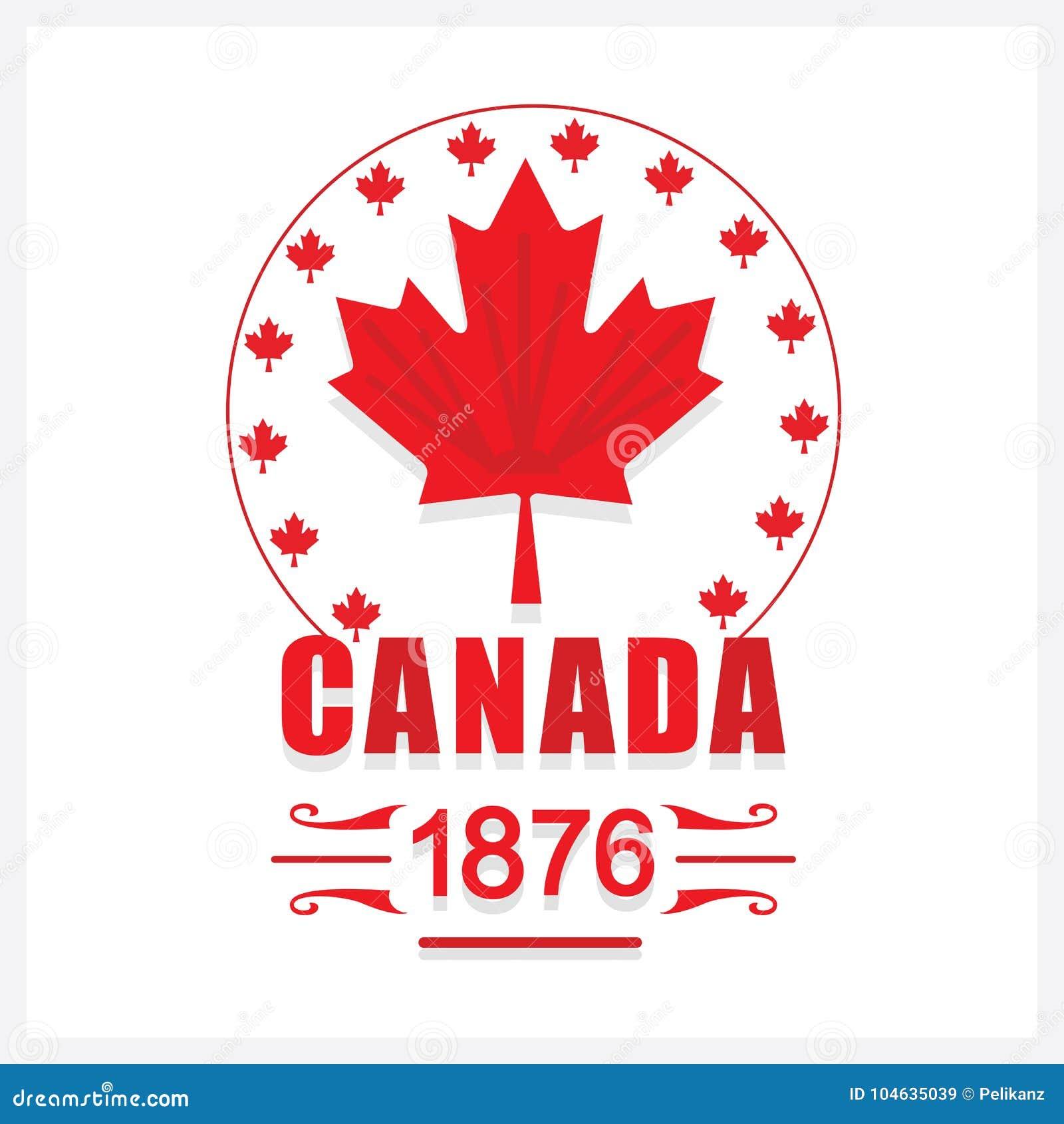 Download Rood Canada Dag 1876 Het Embleempictogram Van Het Esdoornblad Vector Illustratie - Illustratie bestaande uit kenteken, cirkel: 104635039