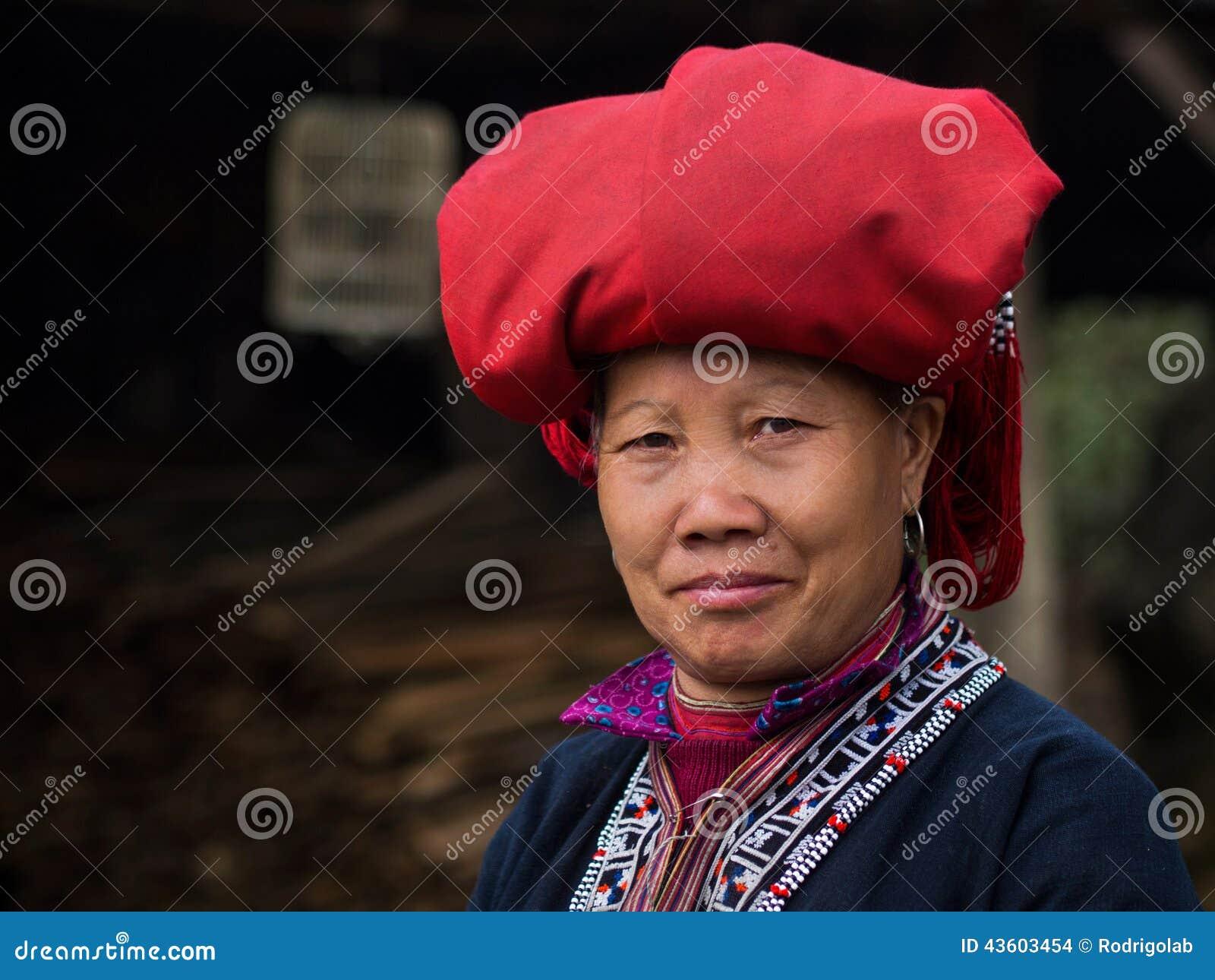 Rood Dao Woman Wearing Traditional Attire, Sapa, Lao Cai, Vietnam