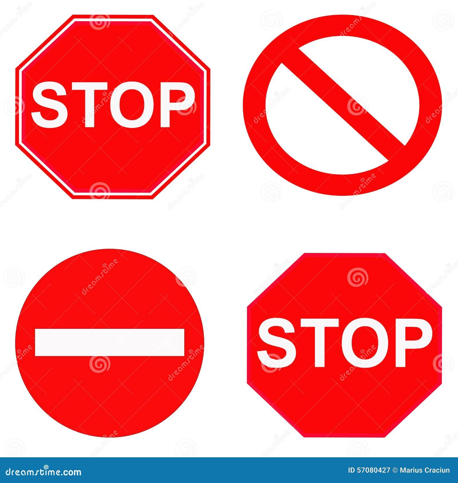 Rood einde en verboden tekens