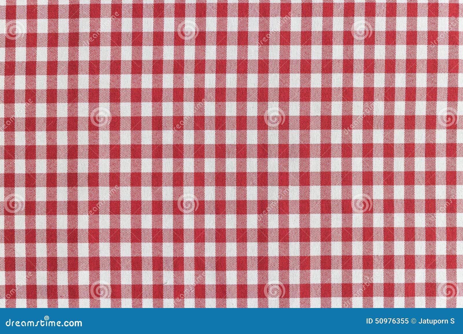 Rood en wit geruit tafelkleed stock afbeelding afbeelding 50976355 - Keuken in rood en wit ...