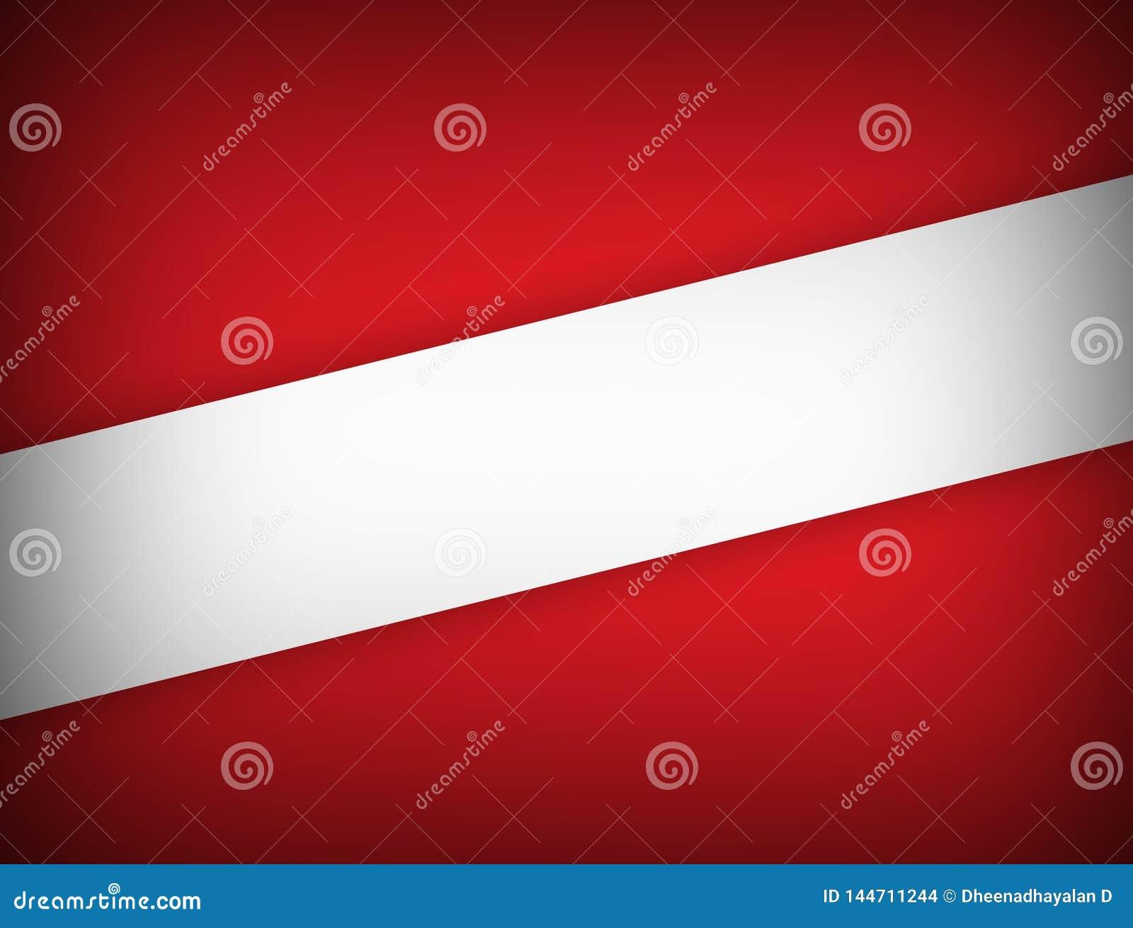 Rood en wit kleuren geometrisch abstract modern ontwerp als achtergrond met exemplaar ruimte Vectorillustratie