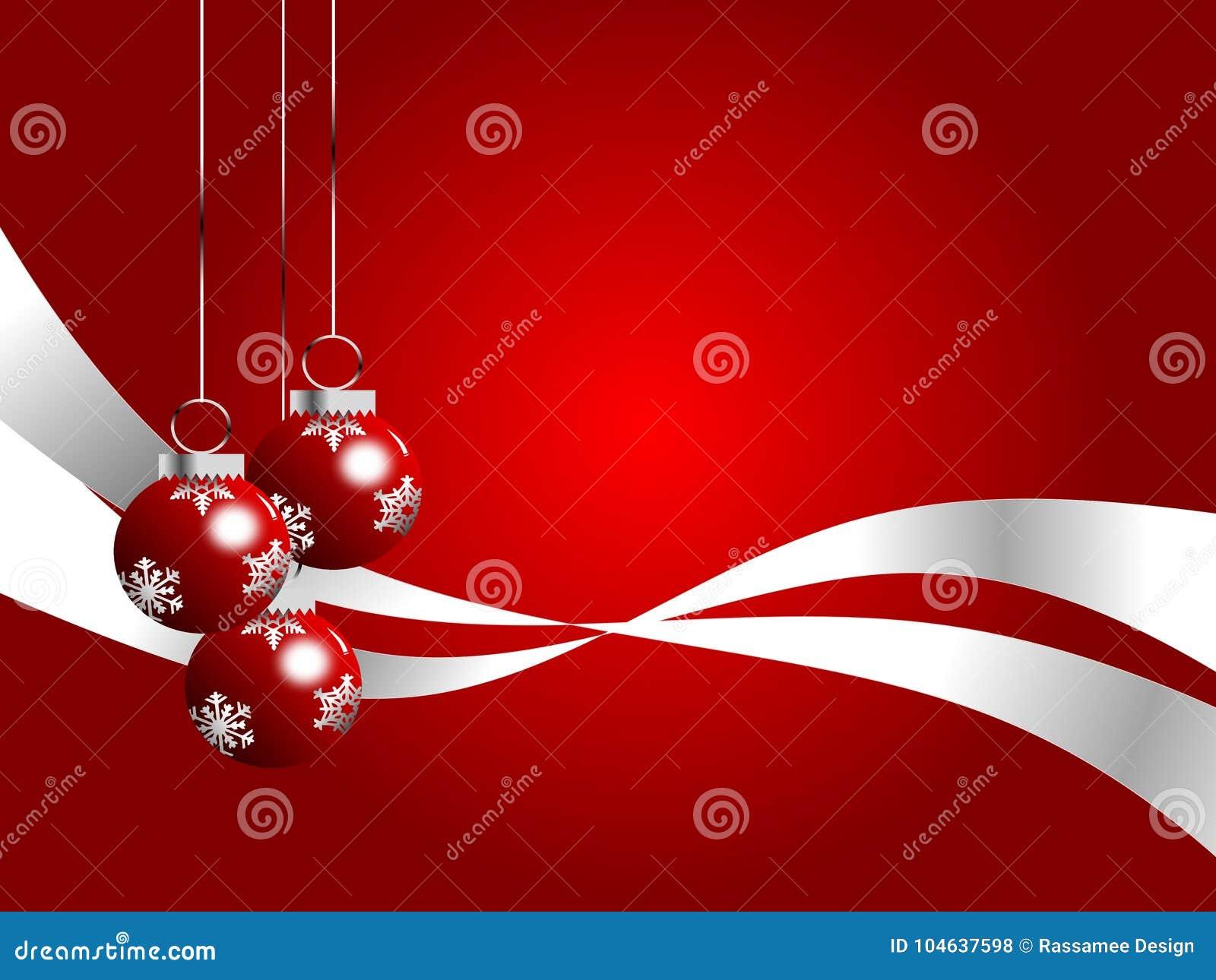 Download Rood En Zilveren Kerstmisthema Stock Illustratie - Illustratie bestaande uit drukken, licht: 104637598