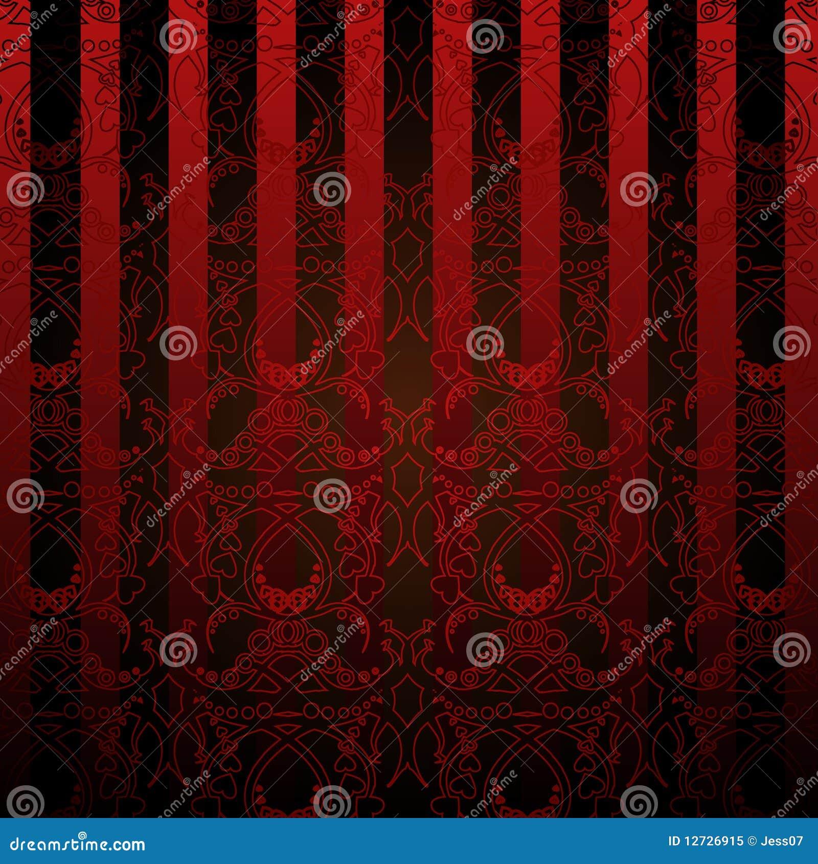 Rood en zwart behang stock illustratie afbeelding bestaande uit bloemen 12726915 - Eetkamer rood en zwart ...