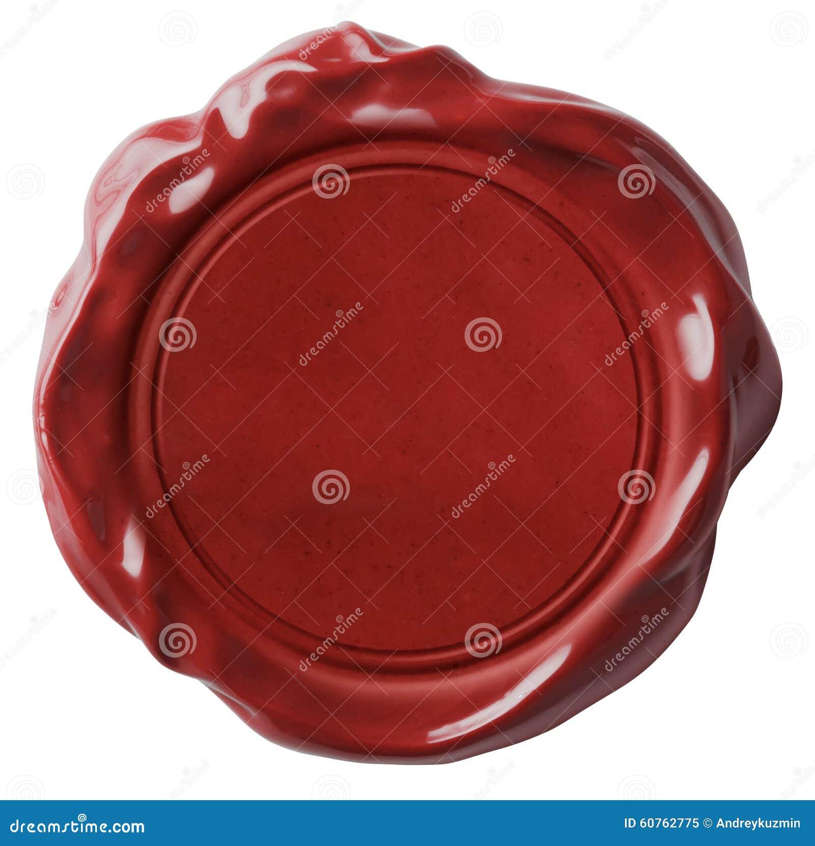 Rood geïsoleerde wasverbinding of zegel