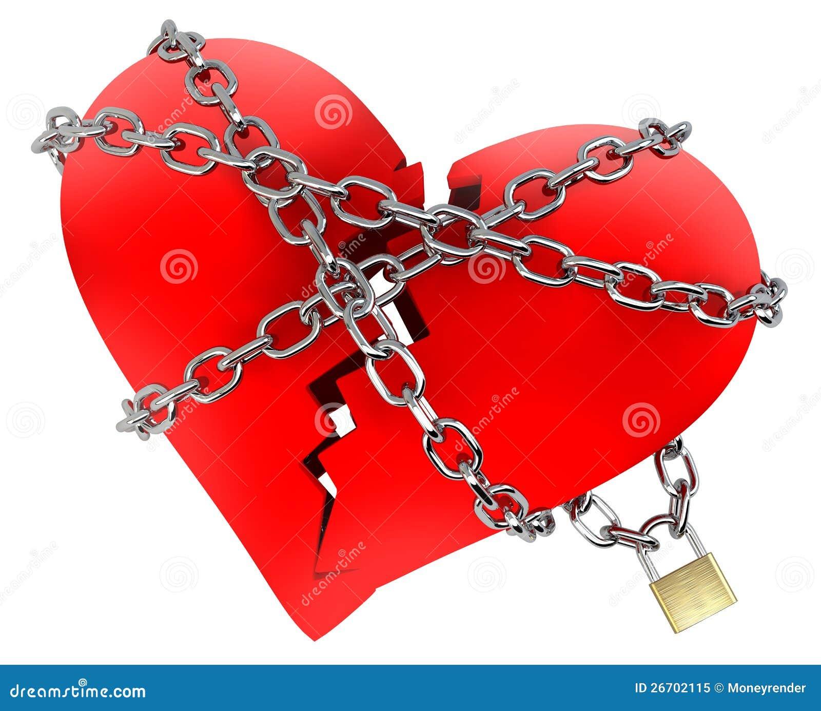 Citaten Gebroken Hart : Rood gebroken hart dat in ketting wordt verpakt stock