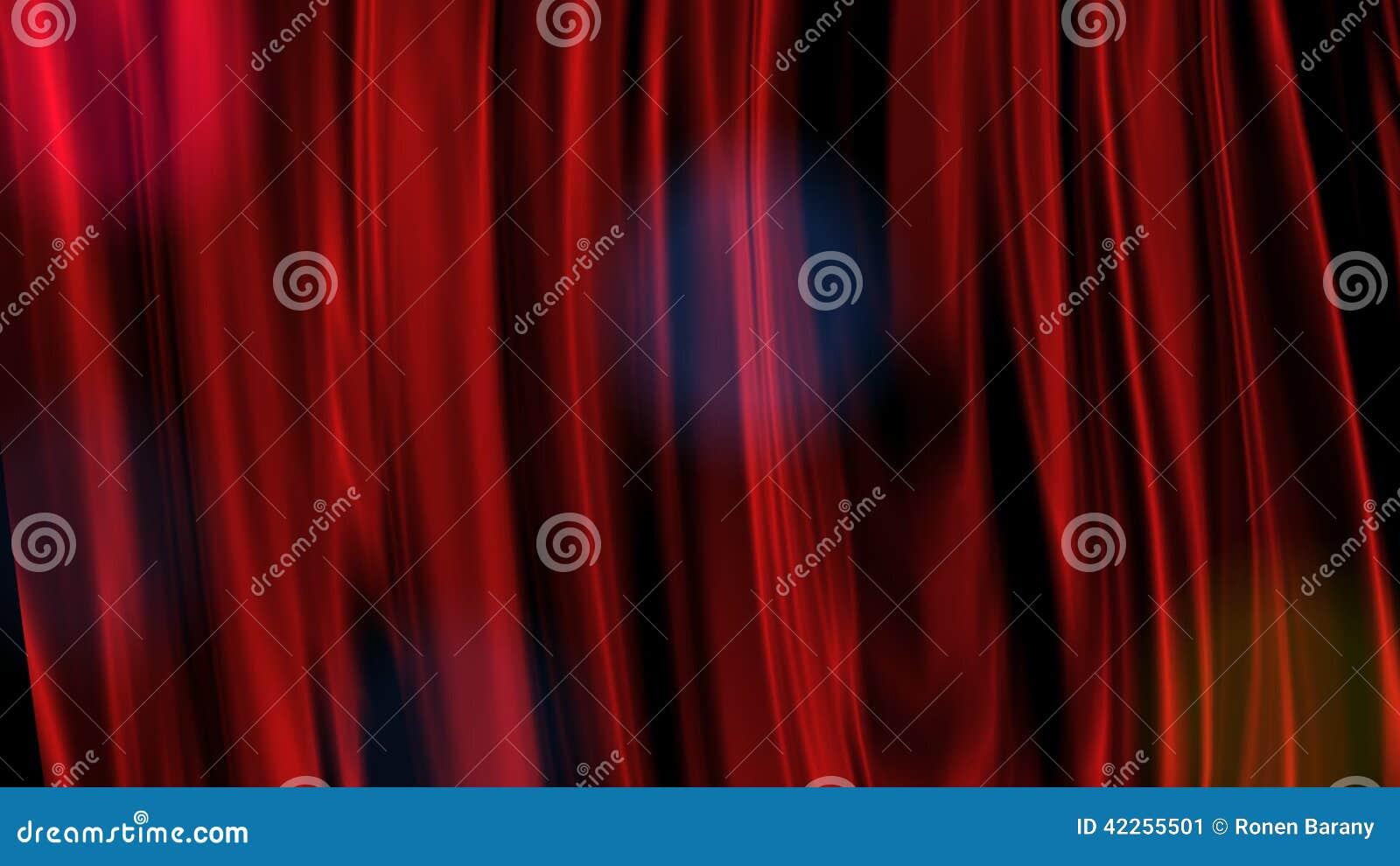 Rood gordijn stock video   video: 42255501