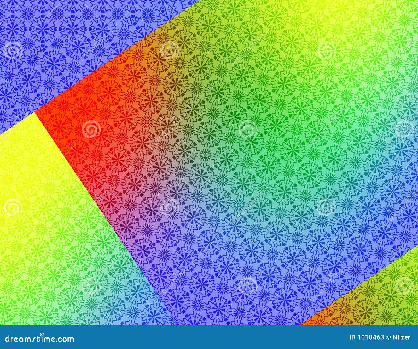 Rood Groen Geel Blauw Geometrisch Behang Als Achtergrond Stock ...