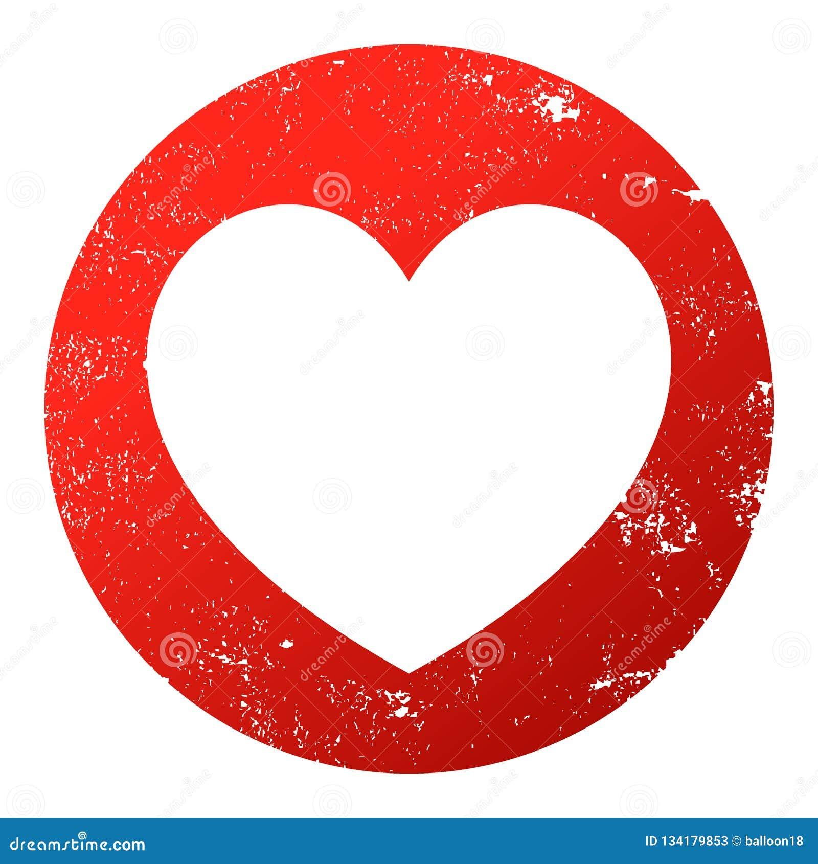 Rood hart grunge
