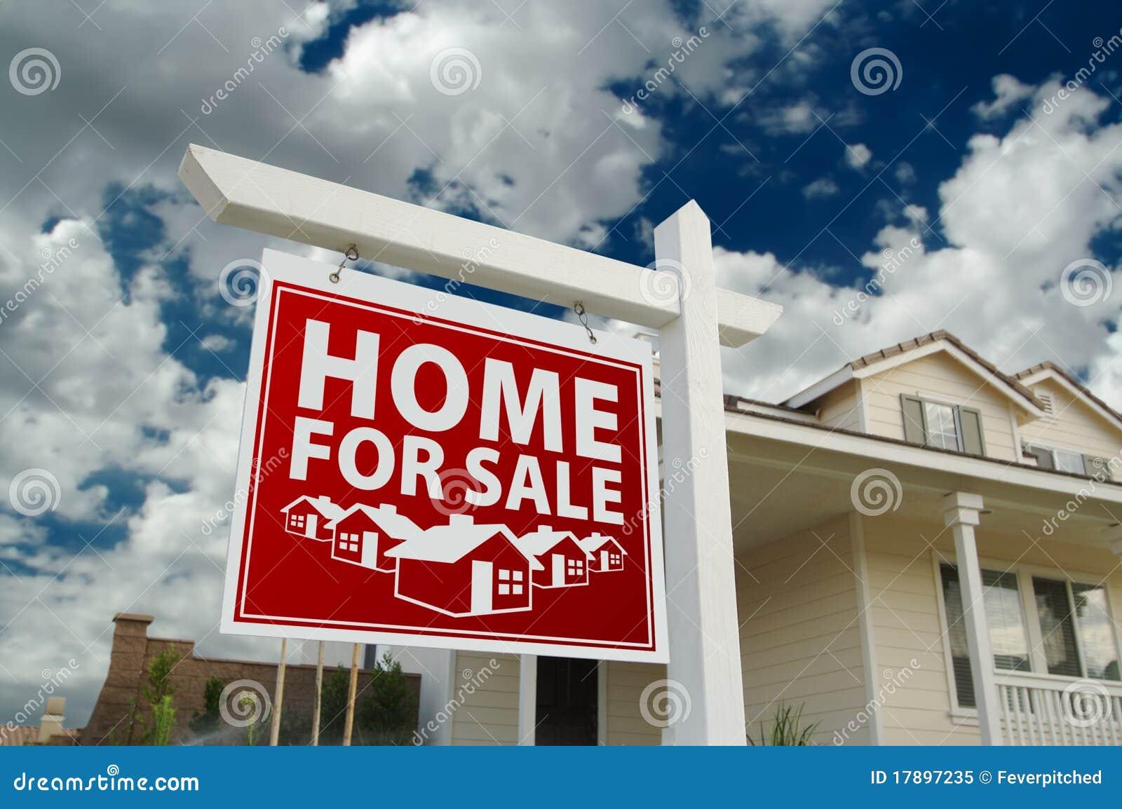 Rood Huis voor het Teken en het Huis van de Onroerende goederen van de Verkoop