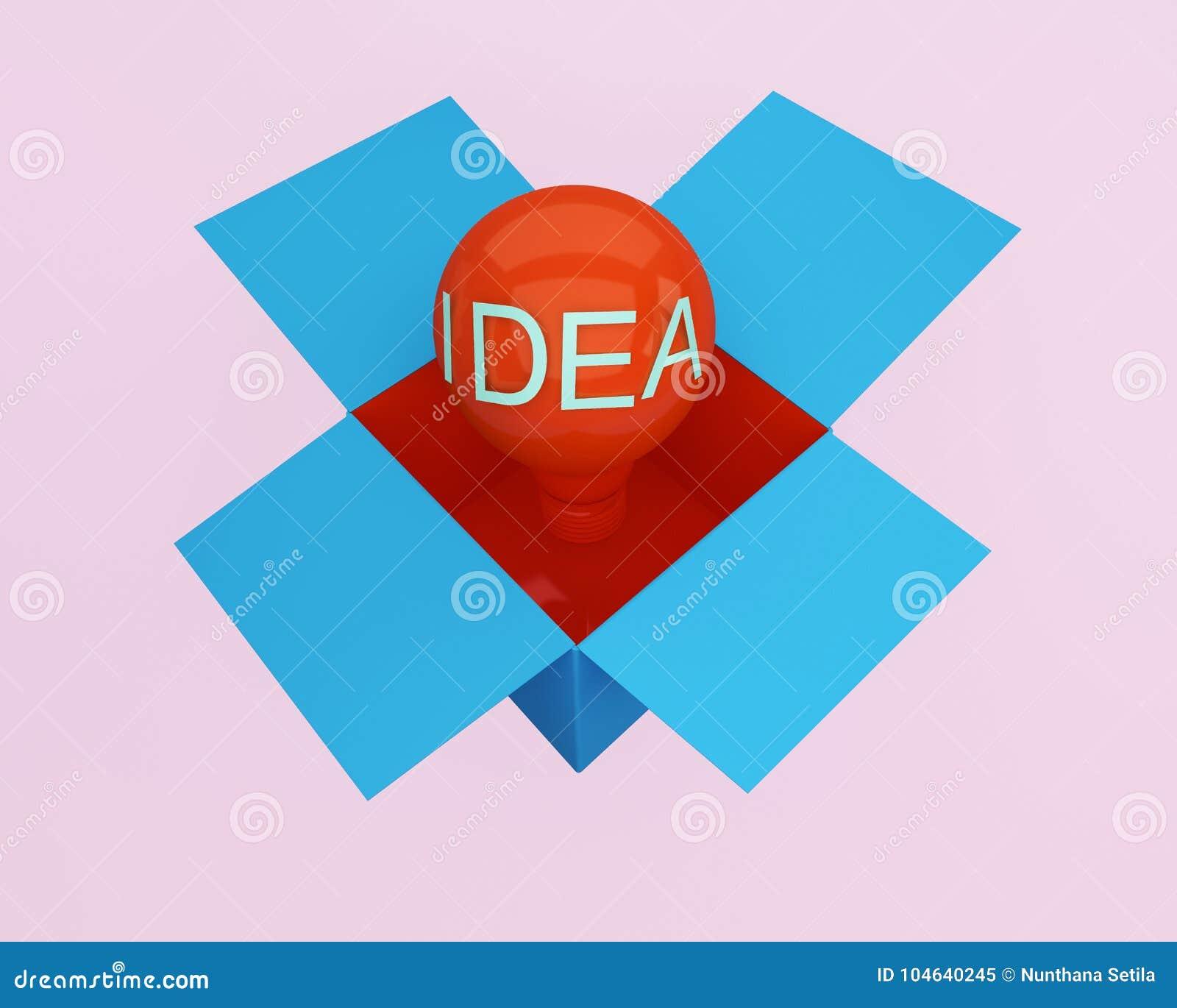 Download Rood Lichtbollen Het Gloeien Denkt Het Creatieve Idee Buiten Doos, Mi Stock Illustratie - Illustratie bestaande uit concept, geometrisch: 104640245
