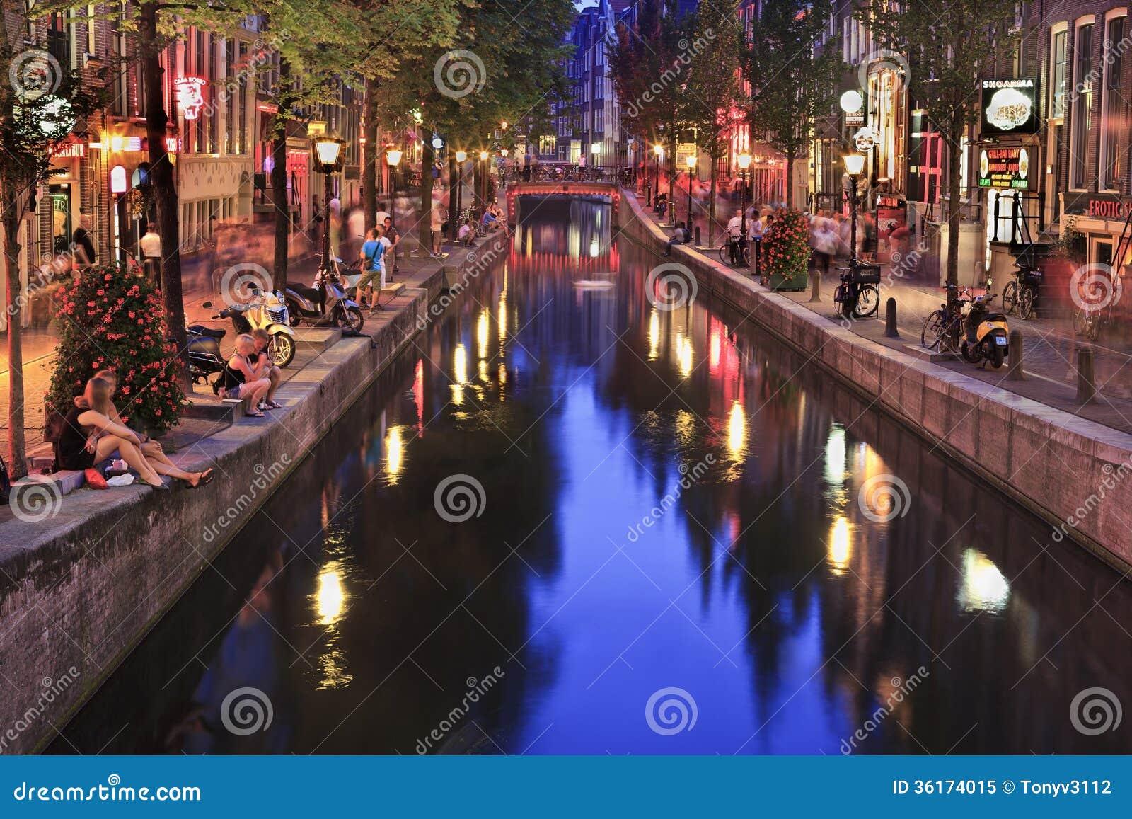 Rood lichtdistrict in Amsterdam