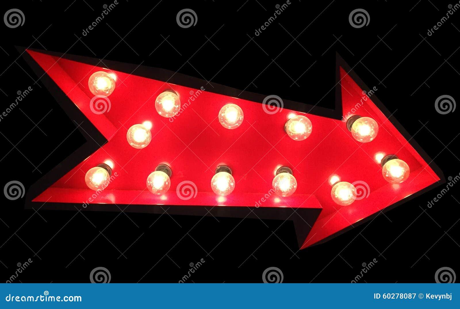 Rood Pijlteken met Tivoli-Lichten