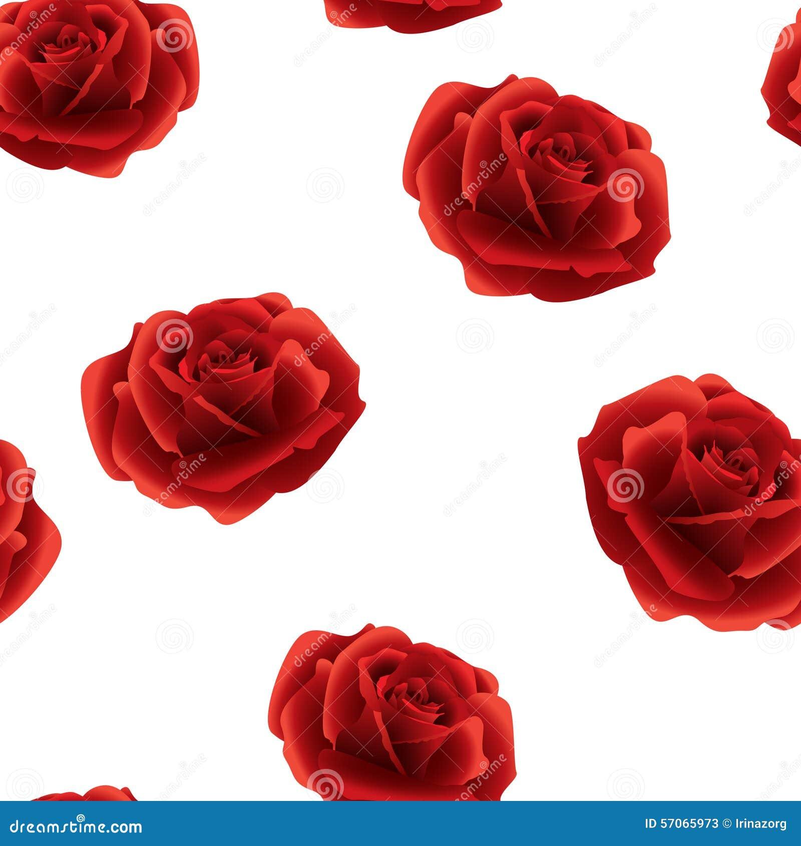 Rood rozen naadloos patroon op een witte achtergrond
