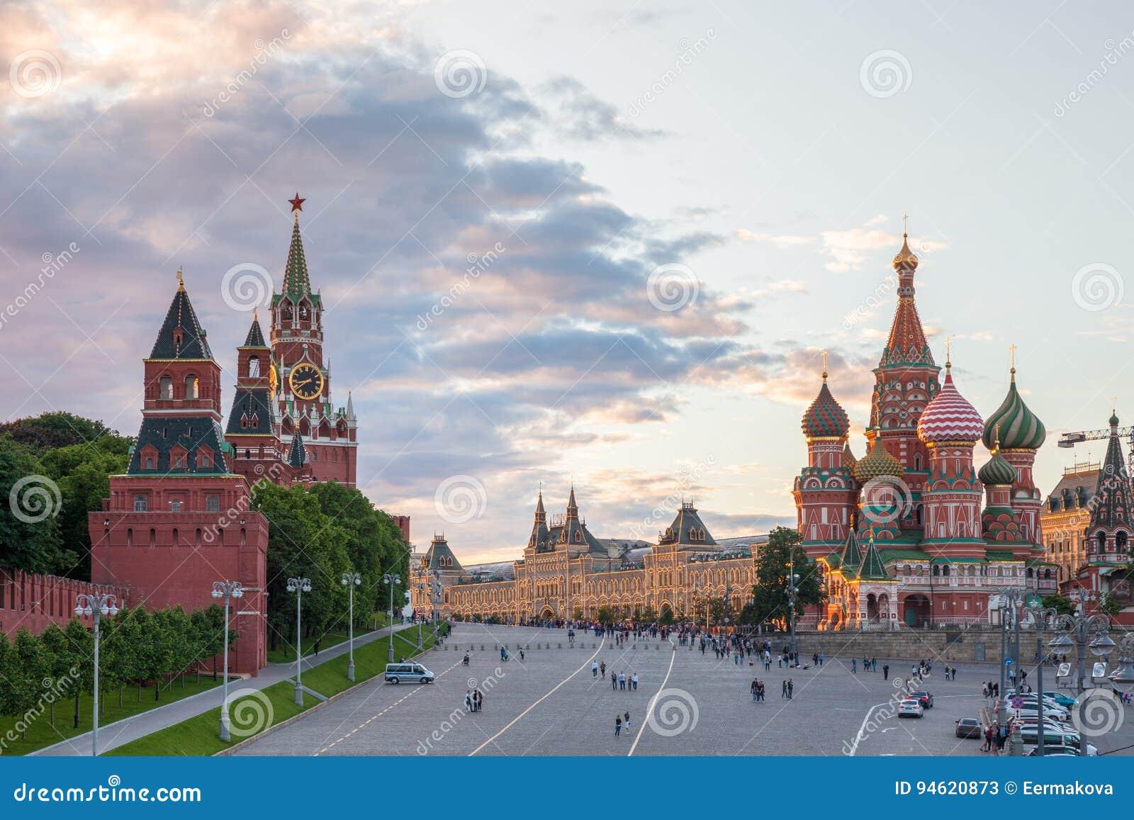 Rood Vierkant bij zonsondergang, Rusland
