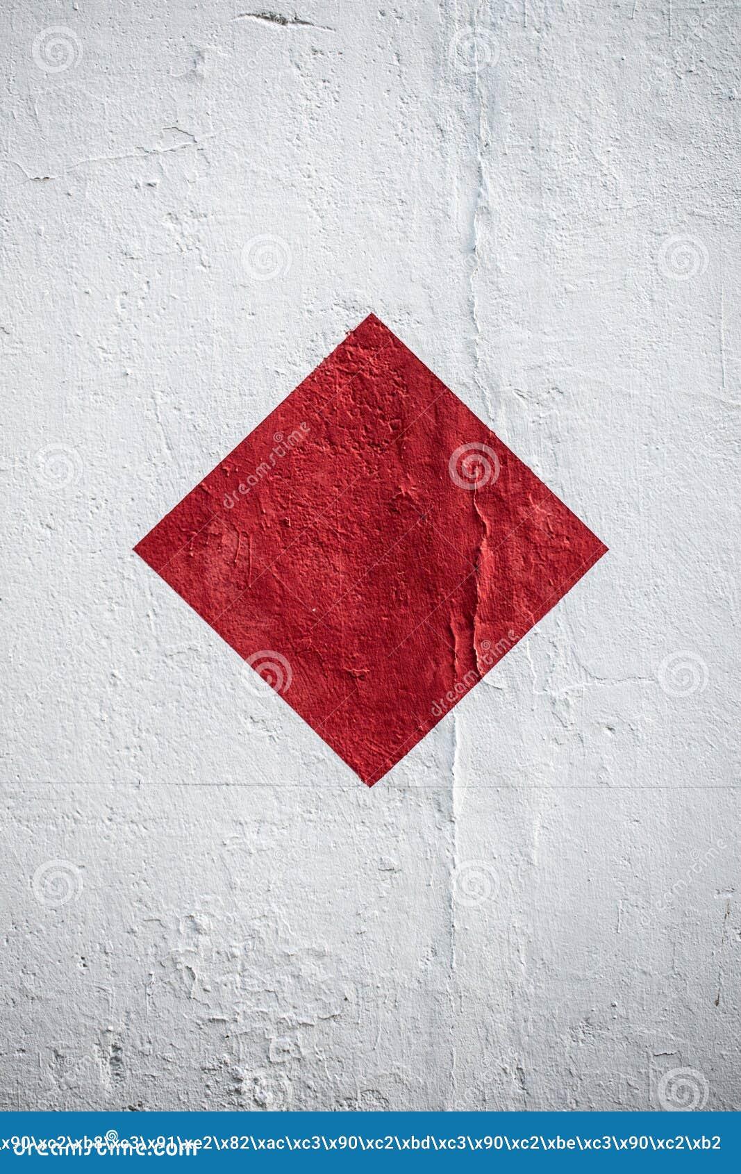 Rood Vierkant op een Witte Muur