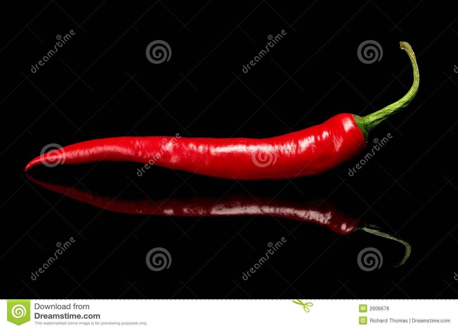 Roodgloeiende Spaanse peperspeper
