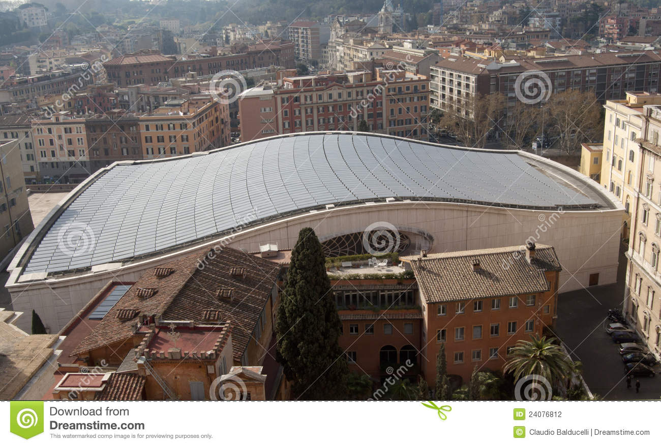 Roof Of The Audience Hall In Vatican City Stock