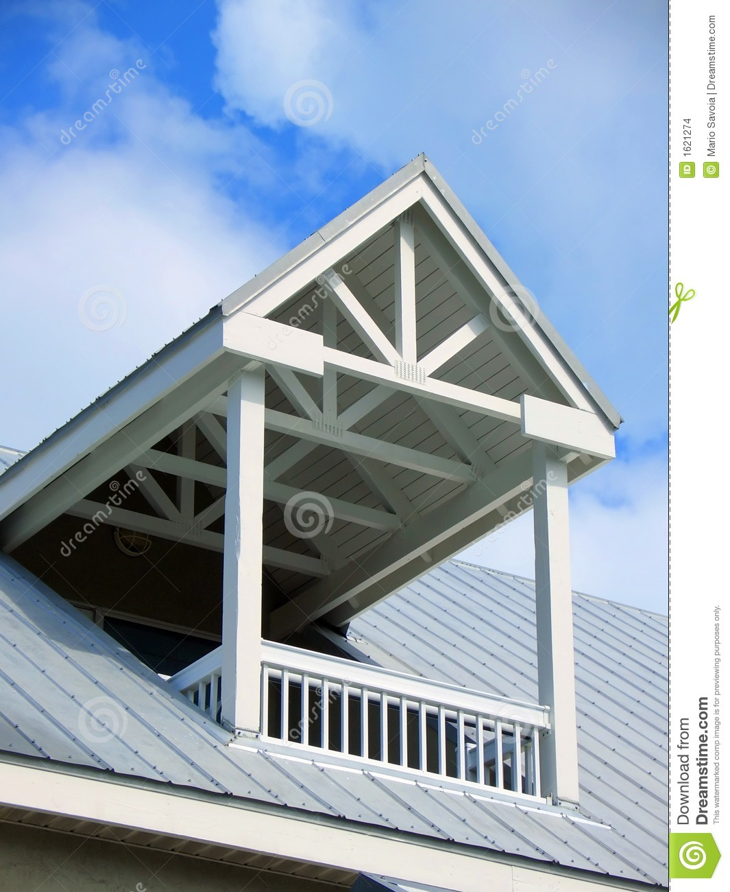 Roof Balcony Stock Images Image 1621274