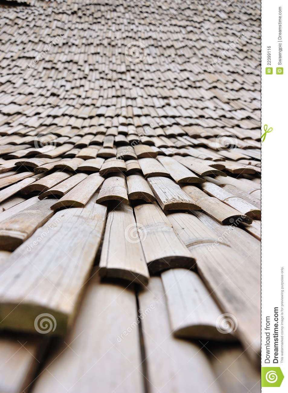 Roof Bamboo Royalty Free Stock Image Image 22399116