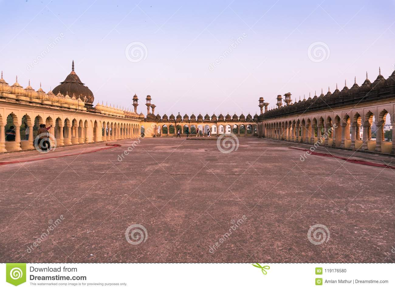 Roof of the bara imambara complex in lucknow