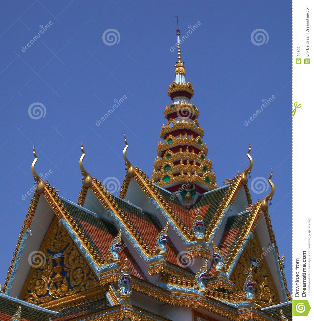 Roof Cambodian temple