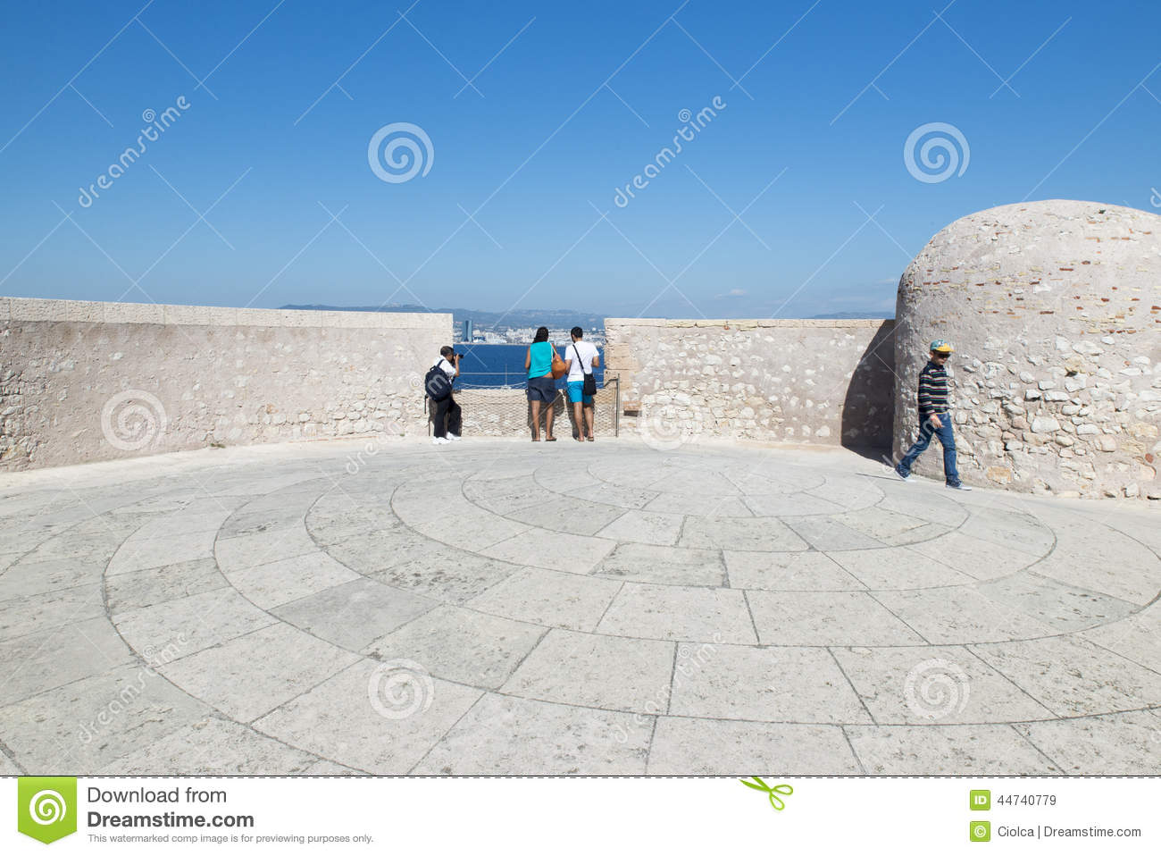 On the roof of Chateau d If, Marseille, France
