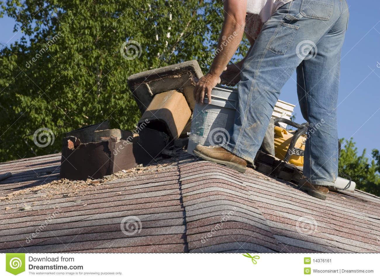 Roof Chimney Repair, Home Maintenance House Fix