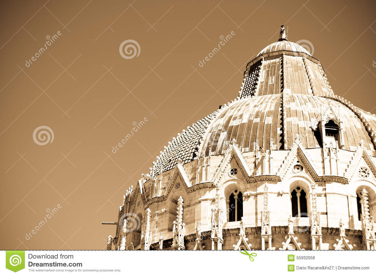 Roof Of The Church Baptistery In Pisa Stock Photo Image