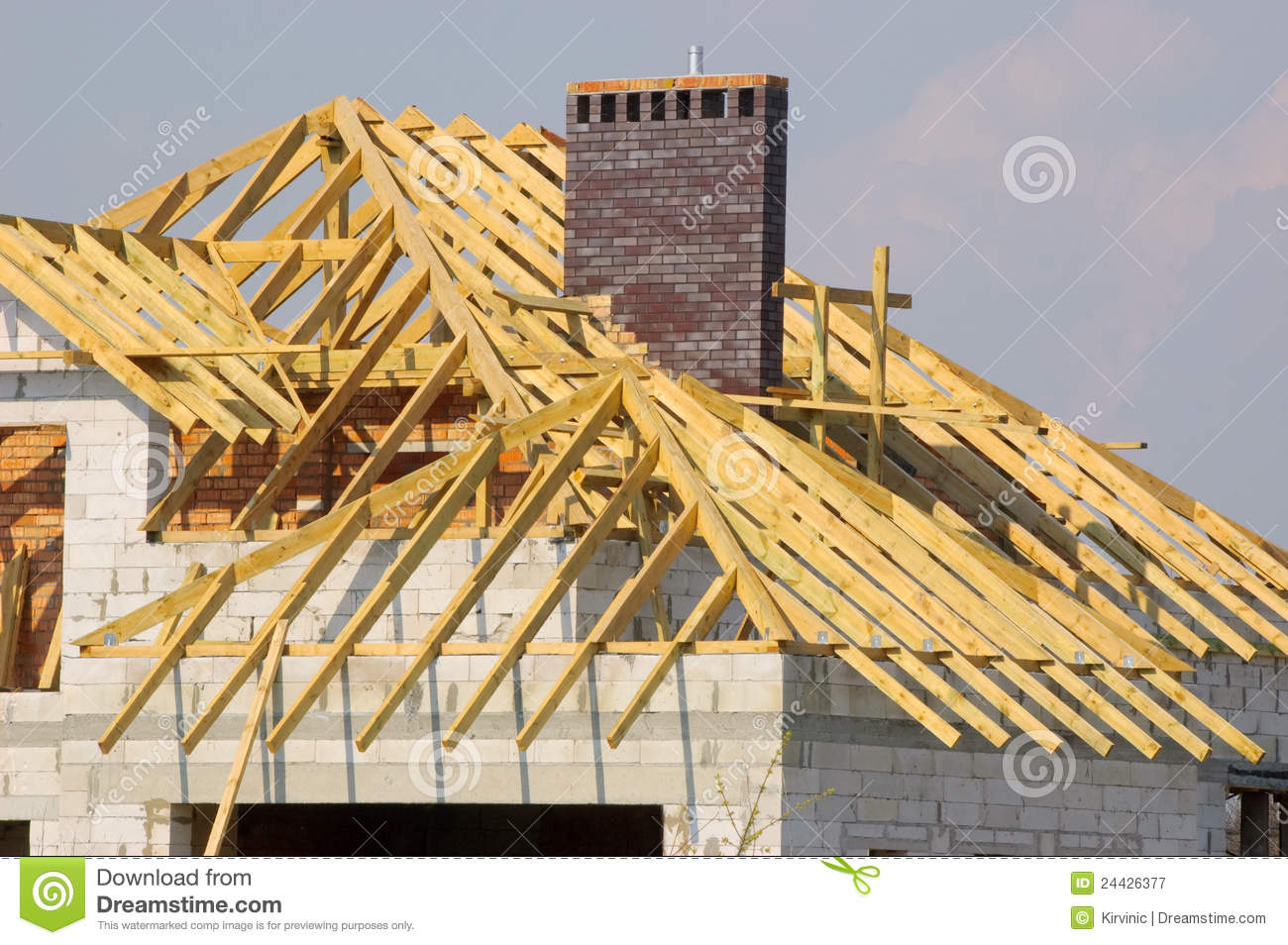 Royalty Free Stock Photo. Download Roof Construction ...