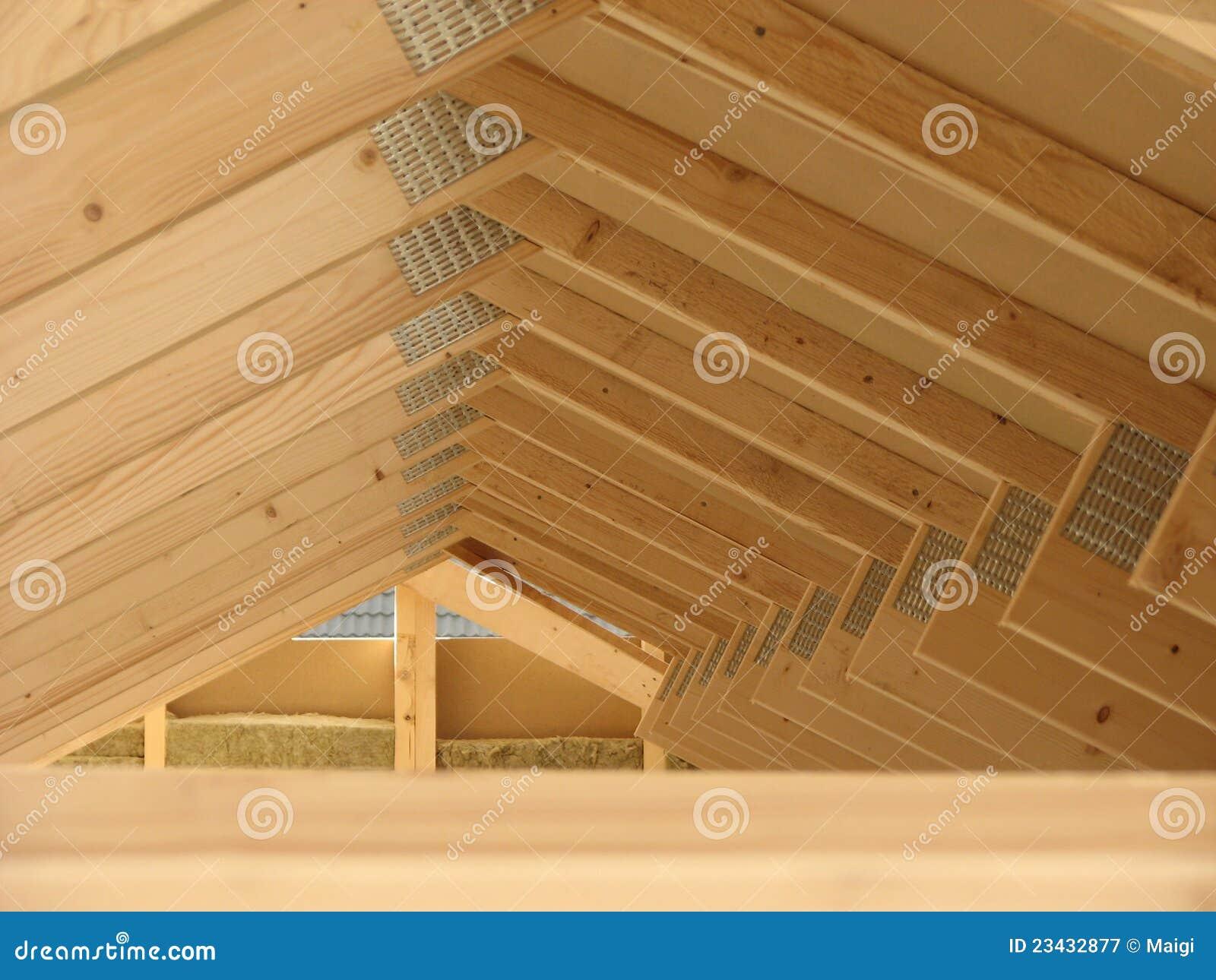 Roof Construction Wooden House Framework