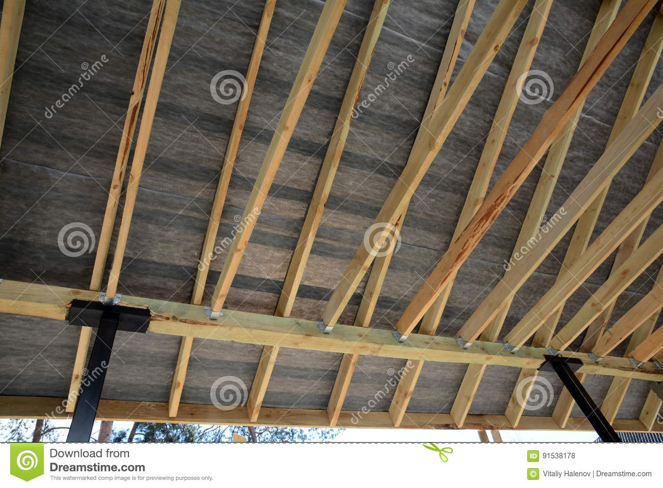 Roof Contractor Repair  Wooden Roof Construction  House Building