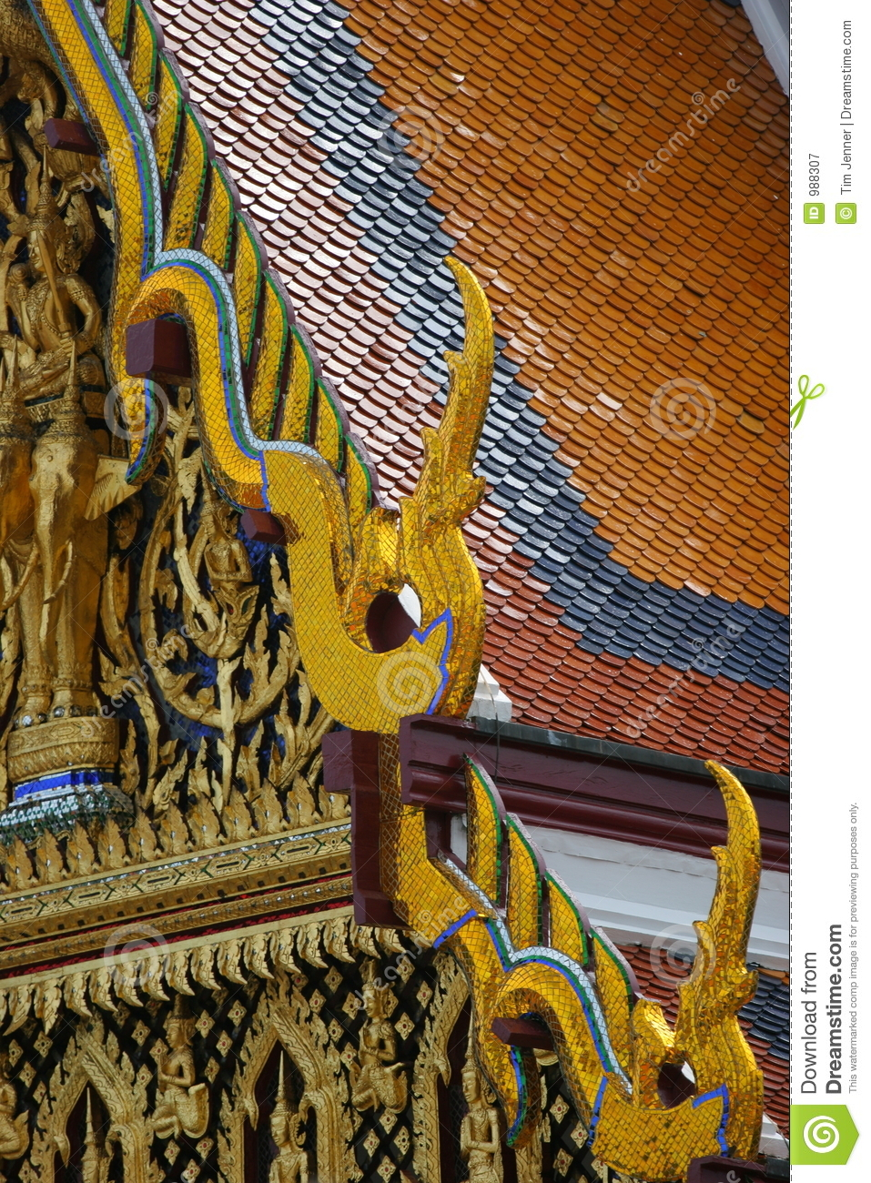Roof det thai tempelet