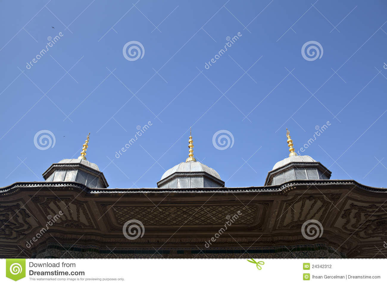 Roof Detail Of III. Ahmet Fountain Stock Photography ...