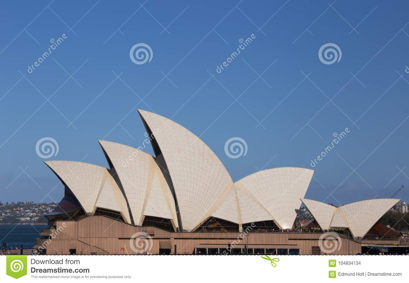 Roof Detail Of Sydney Opera House Editorial Stock Image
