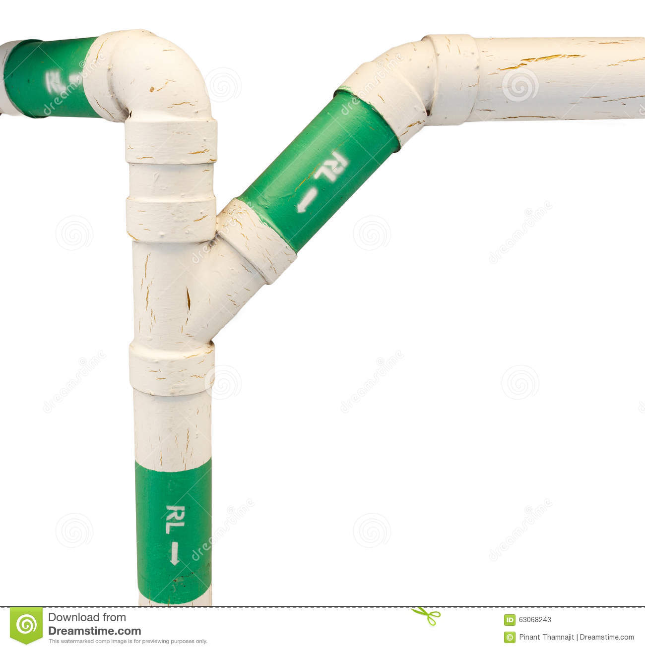 Roof drain pipe in three ways stock image image of for House roof drain pipes