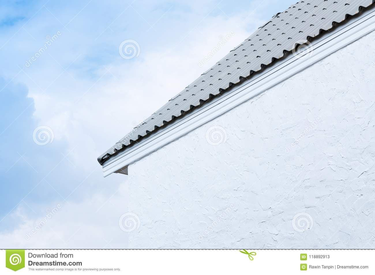 Architectural White Gable Royalty Free Stock Image