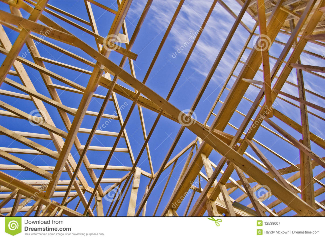 Roof Framing of New Home Construction
