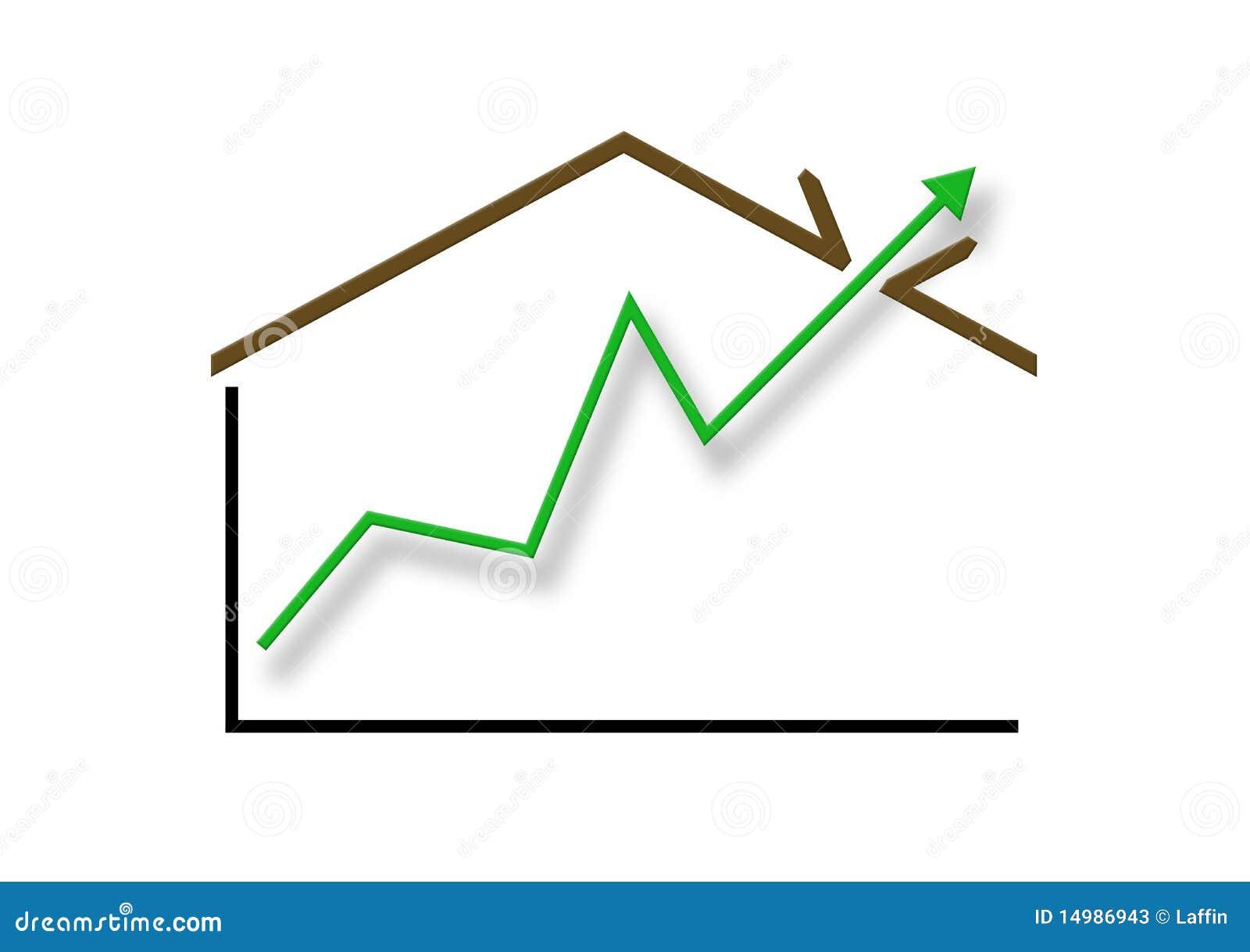 Through The Roof Growth Stock Illustration Illustration