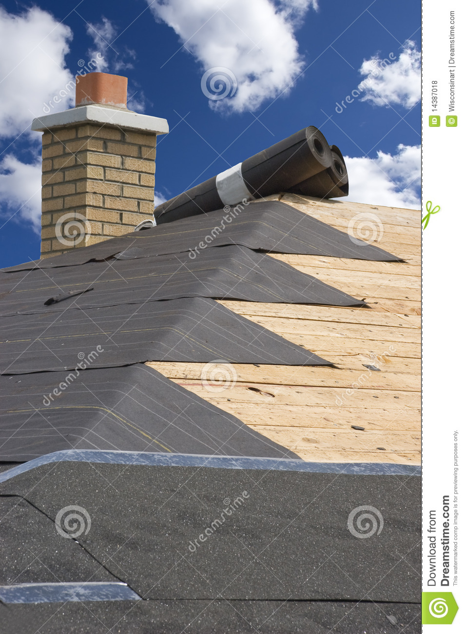 Roof Home Maintenance House Construction Shingles Stock