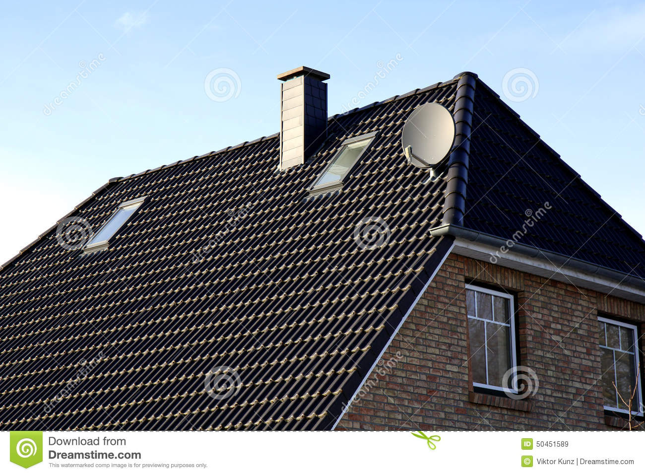 The Roof Of The House With Nice Window Stock Photo Image
