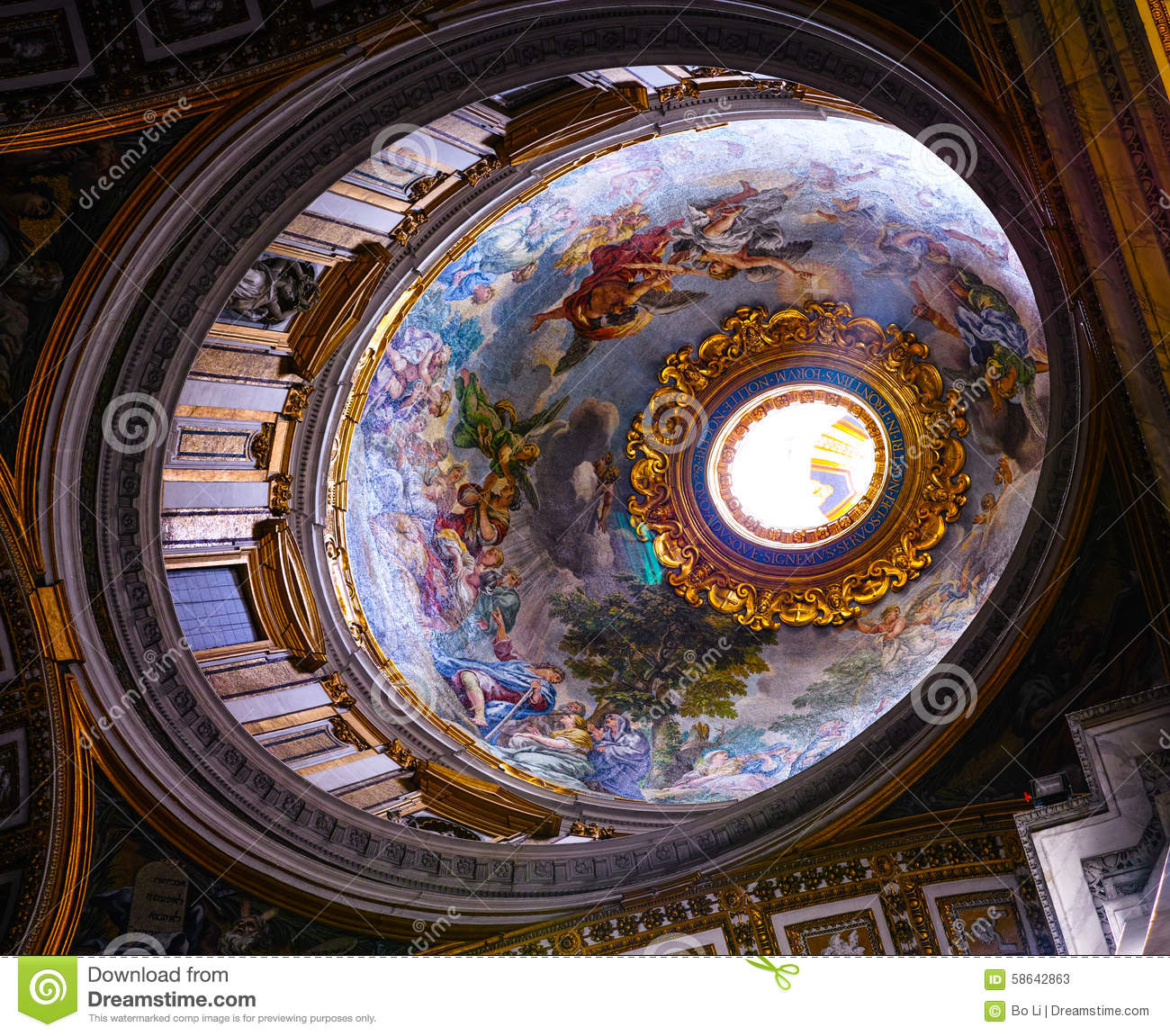 Roof Inside Of St Peters Church Royalty Free Stock Photo