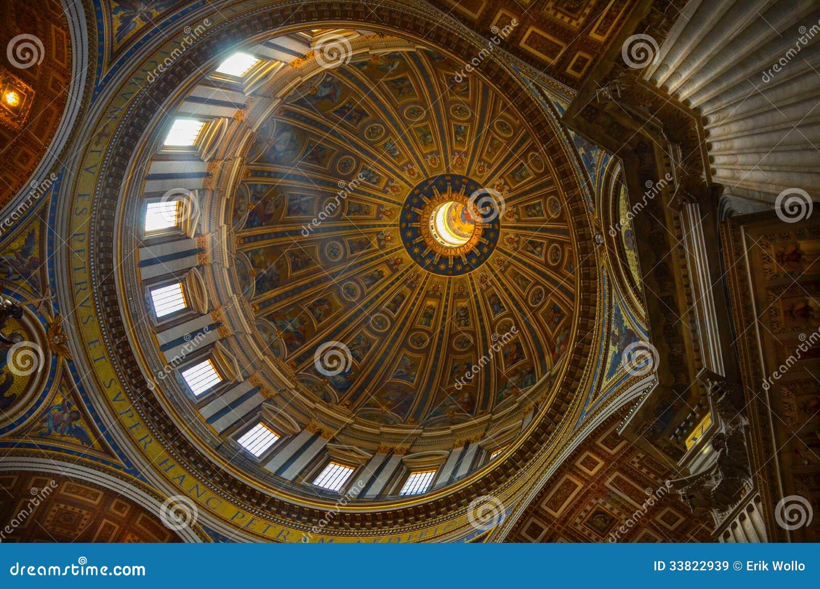 Rome Roof Of Chiesa Sant Ignazio Di Loyola Royalty Free