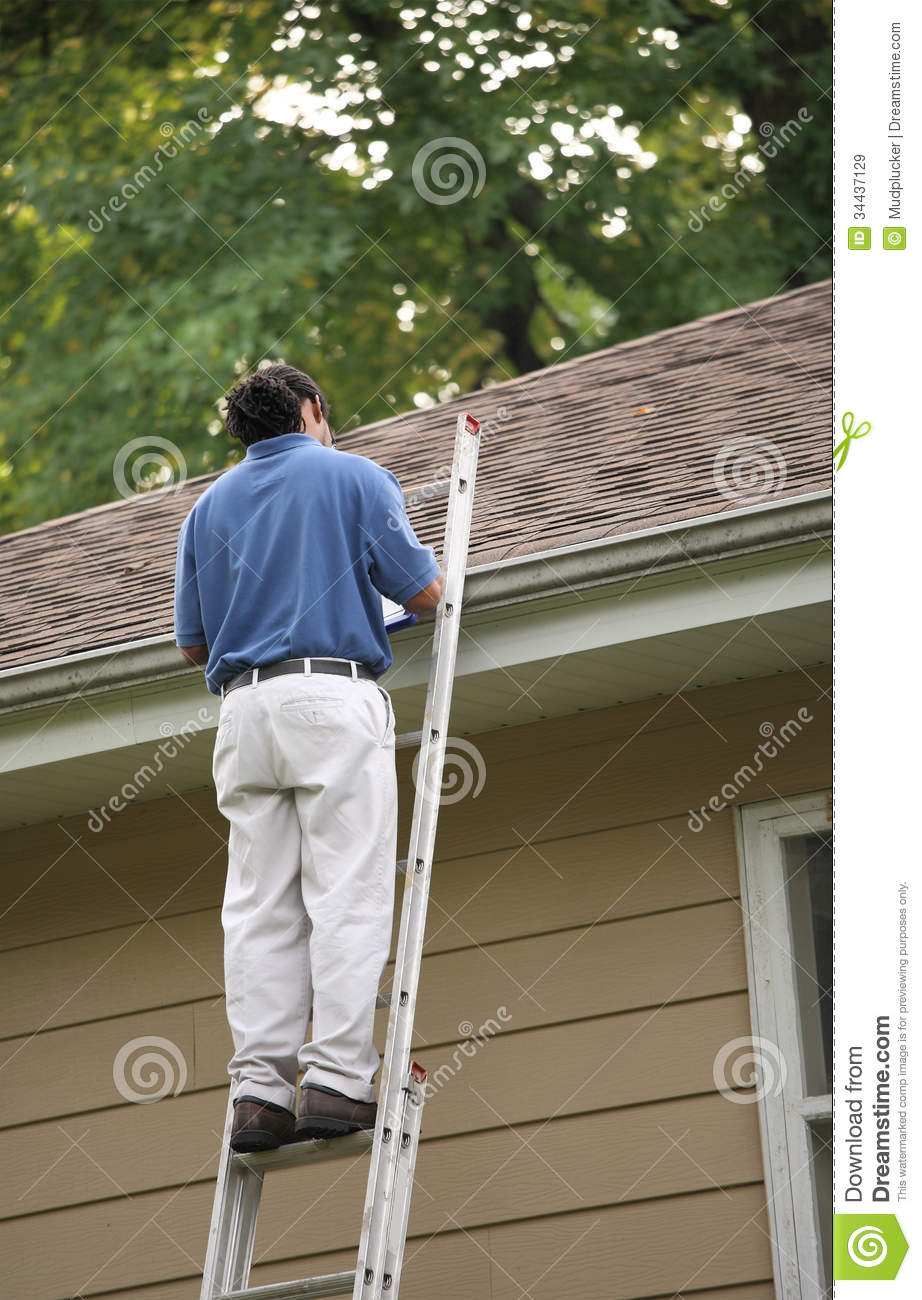 Roof Inspection Being Performed Royalty Free Stock Images ...