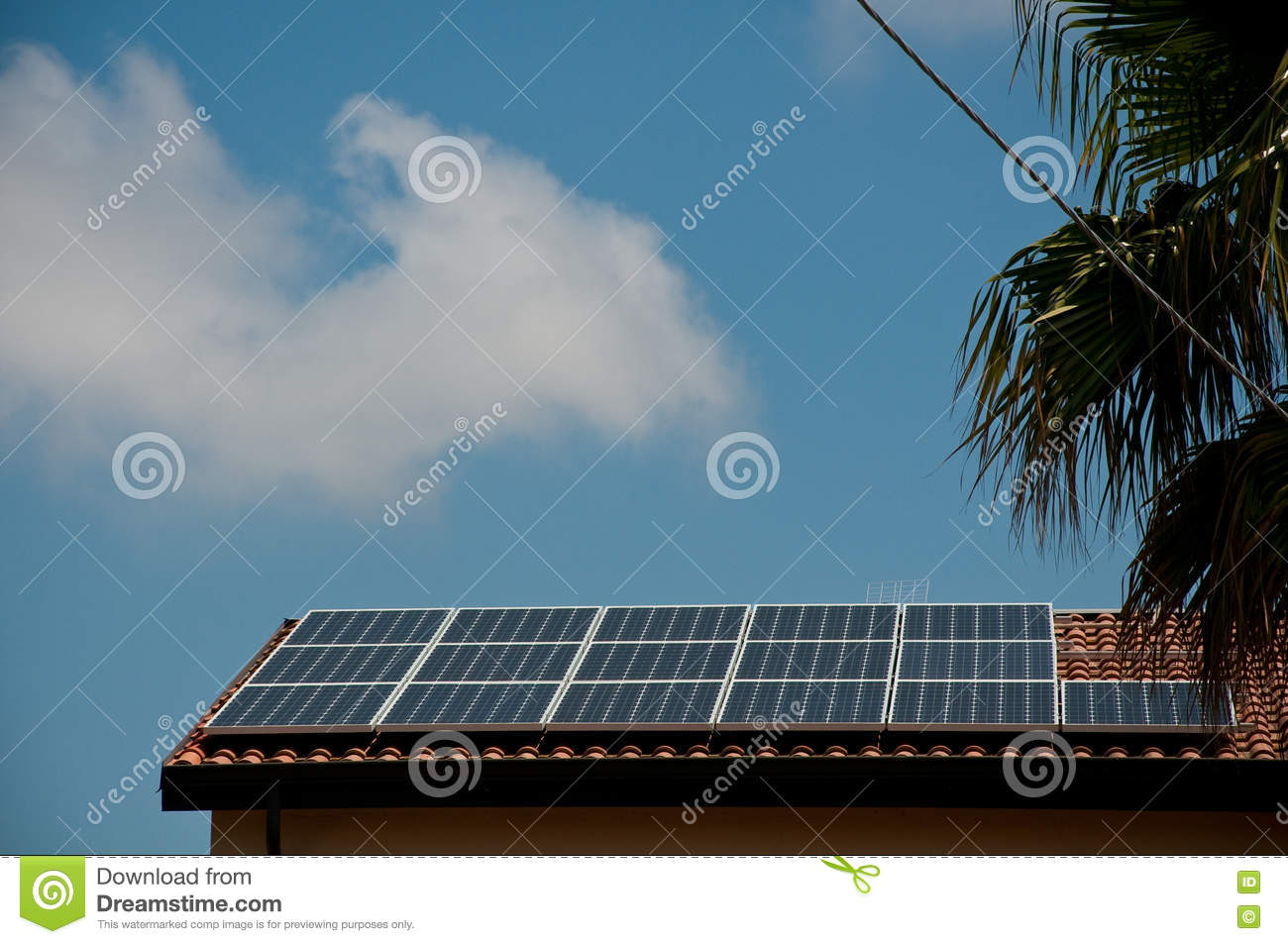Roof Installed Solar Panels That Are Used To Make Electricity Stock How Does The Panel From Sunlight
