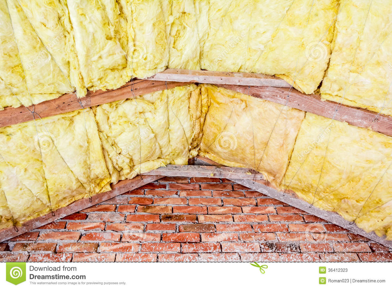 Roof insulation stock photos image 36412323 for New home insulation